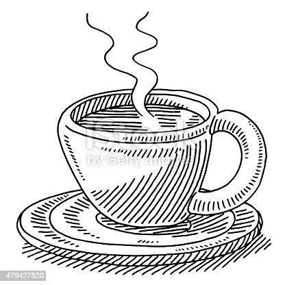 Image result for drawing of cup of coffee