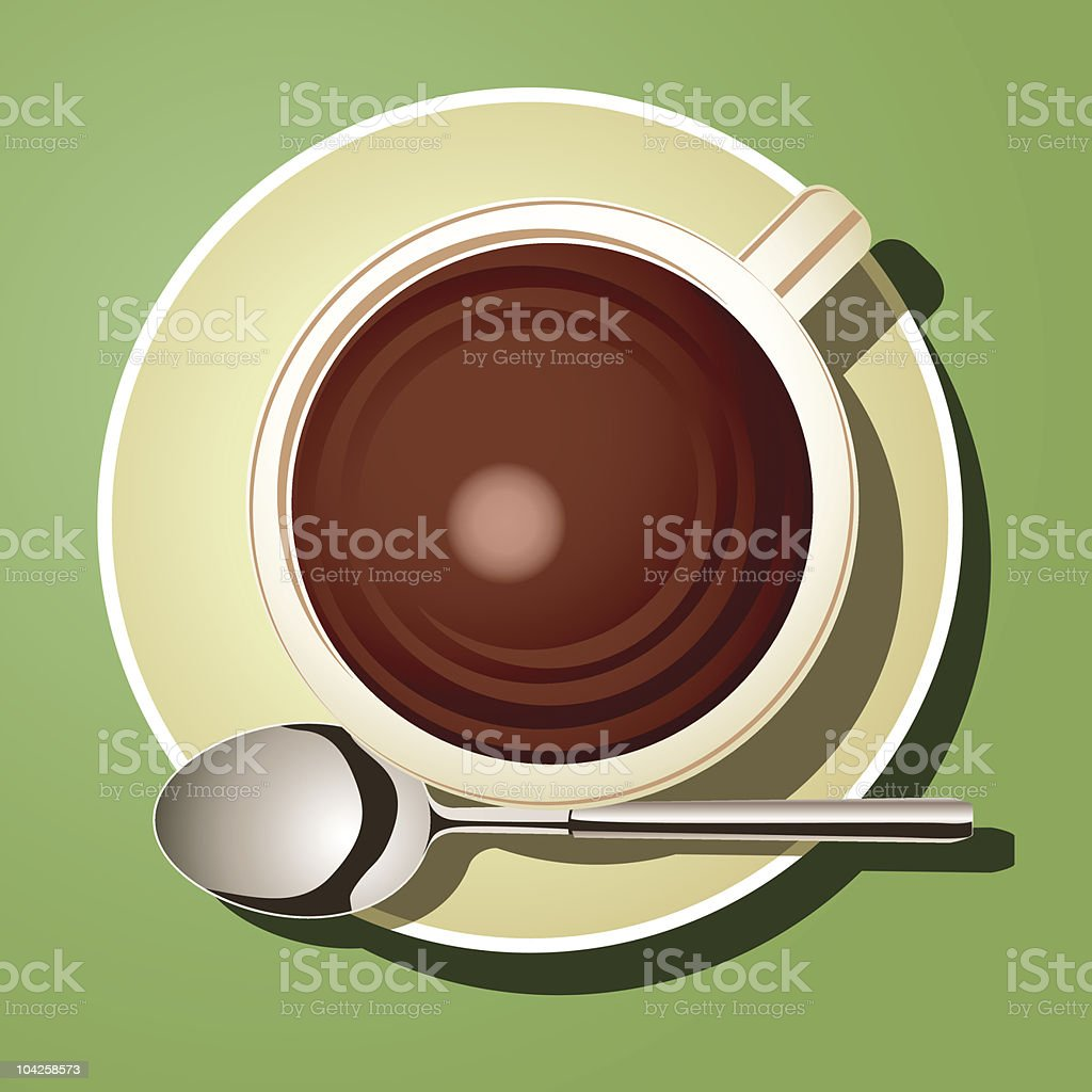 Cup of Hot Chocolate royalty-free stock vector art