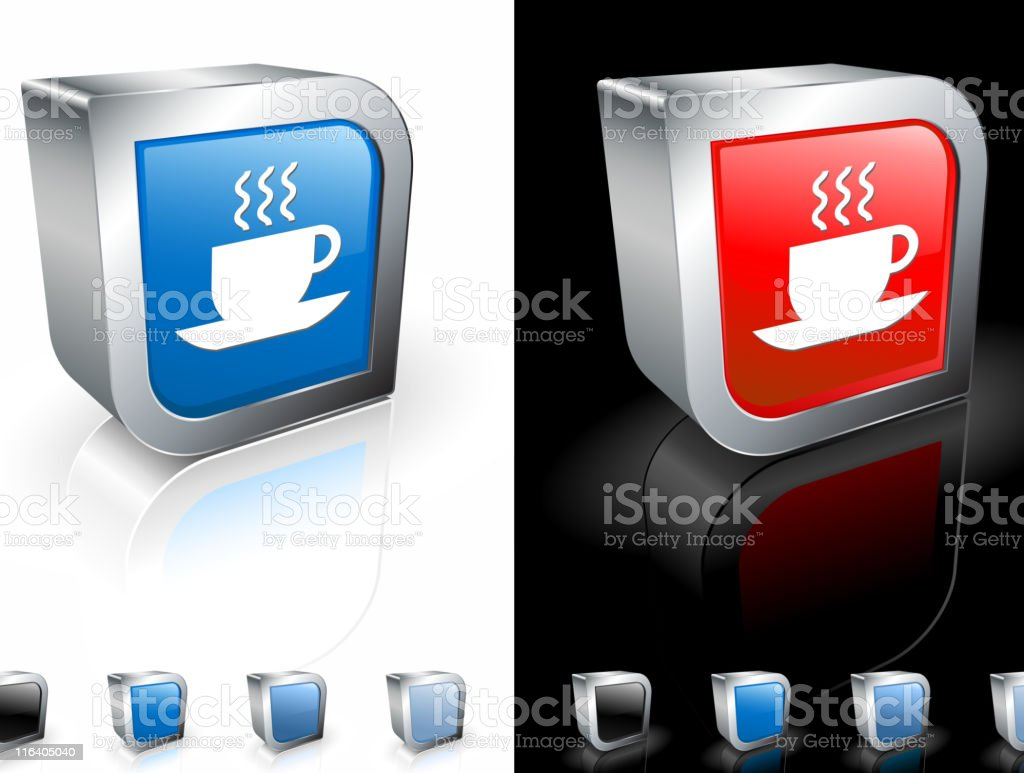 cup of hot coffee tea square royalty free vector art royalty-free stock vector art
