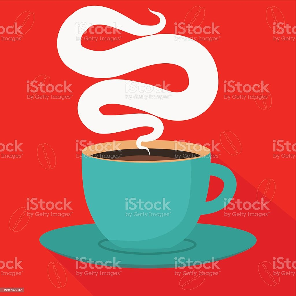 Cup of hot coffee vector  illustration vector art illustration