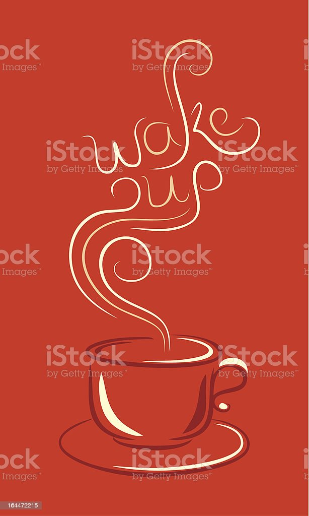 cup of hot drink with steam royalty-free stock vector art