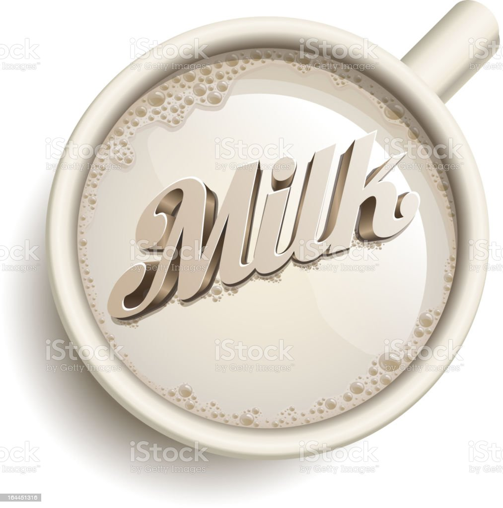 Cup of Milk royalty-free stock vector art
