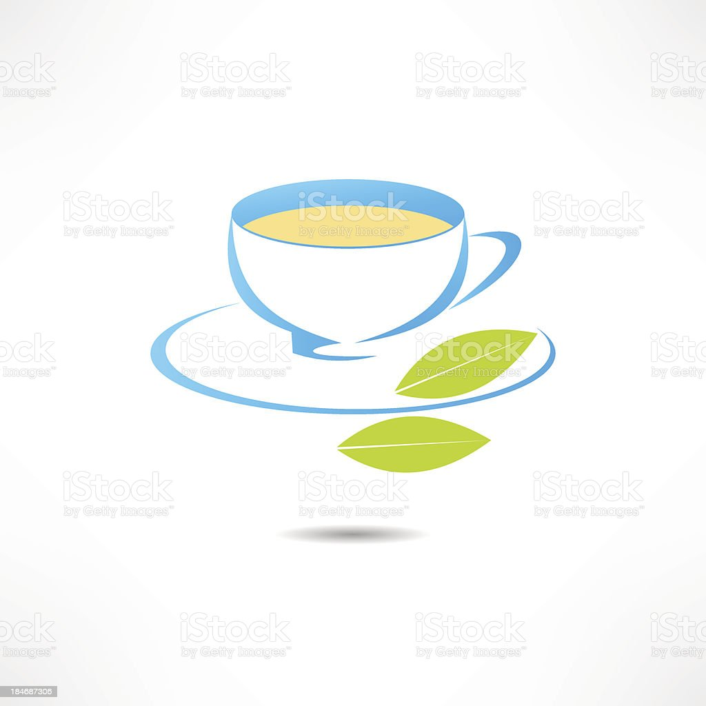 Cup of tea vector art illustration