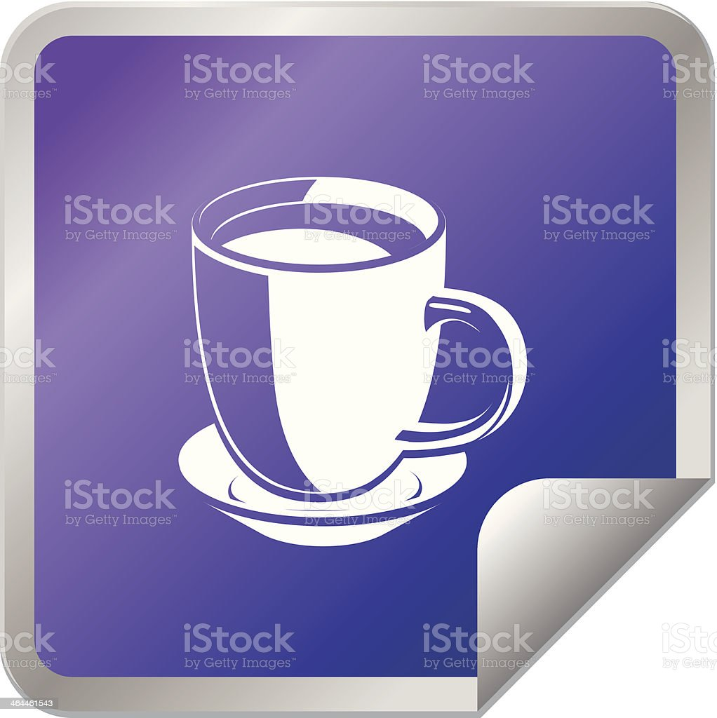 Cup or Mug sticker icon royalty-free stock vector art