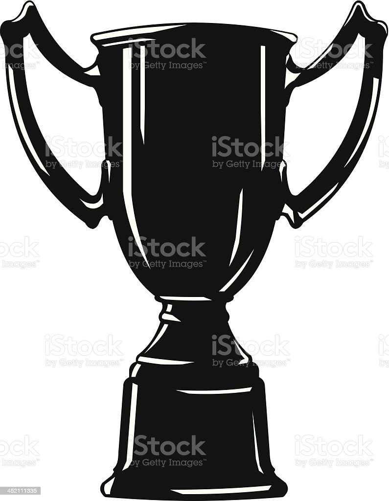 Cup Trophy Silhouette Icon royalty-free stock vector art