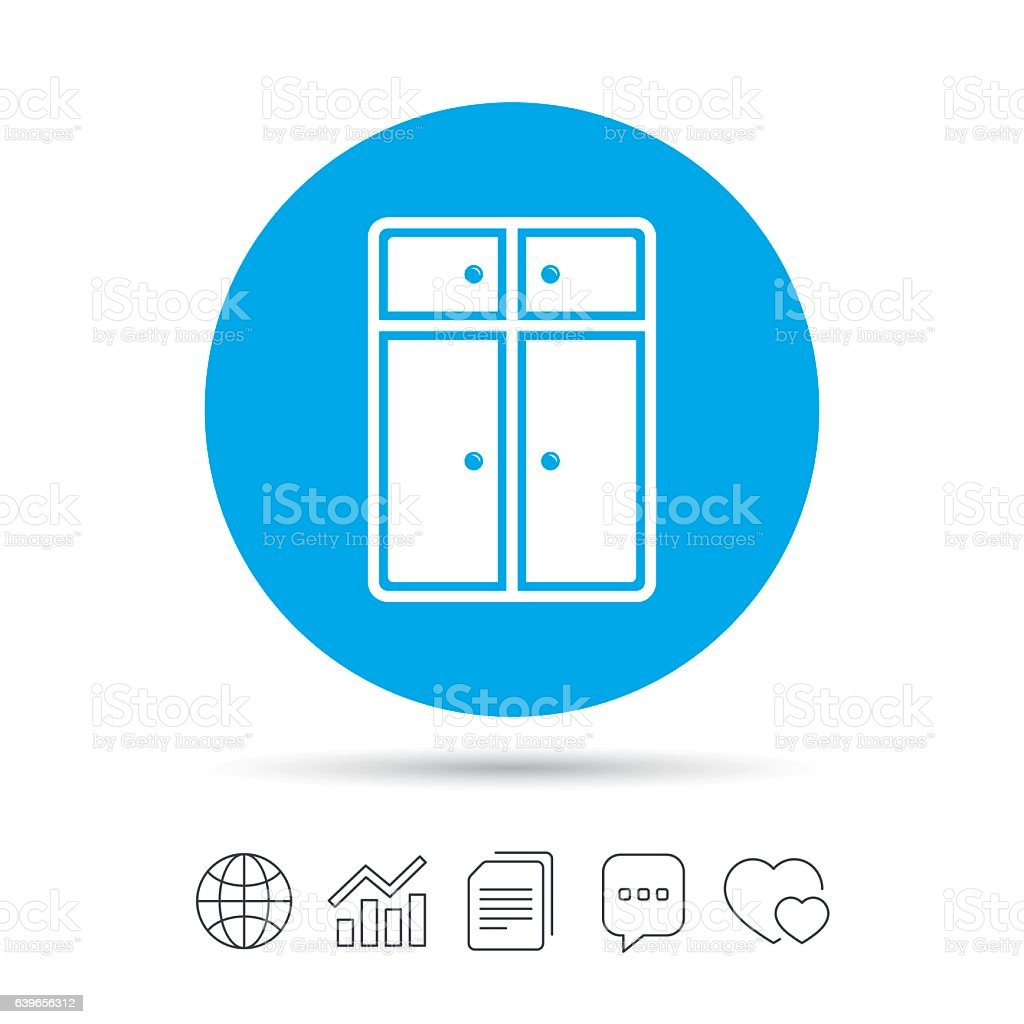 Modern Furniture Icon cupboard sign icon modern furniture symbol stock vector art