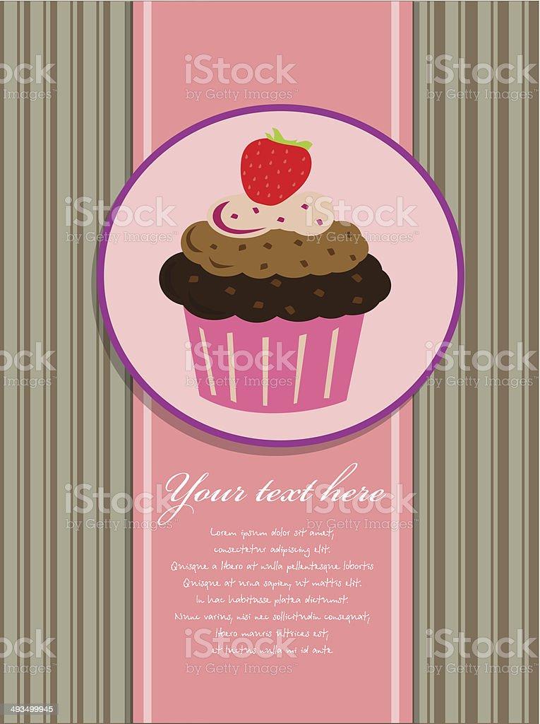Fond Cupcake stock vecteur libres de droits libre de droits