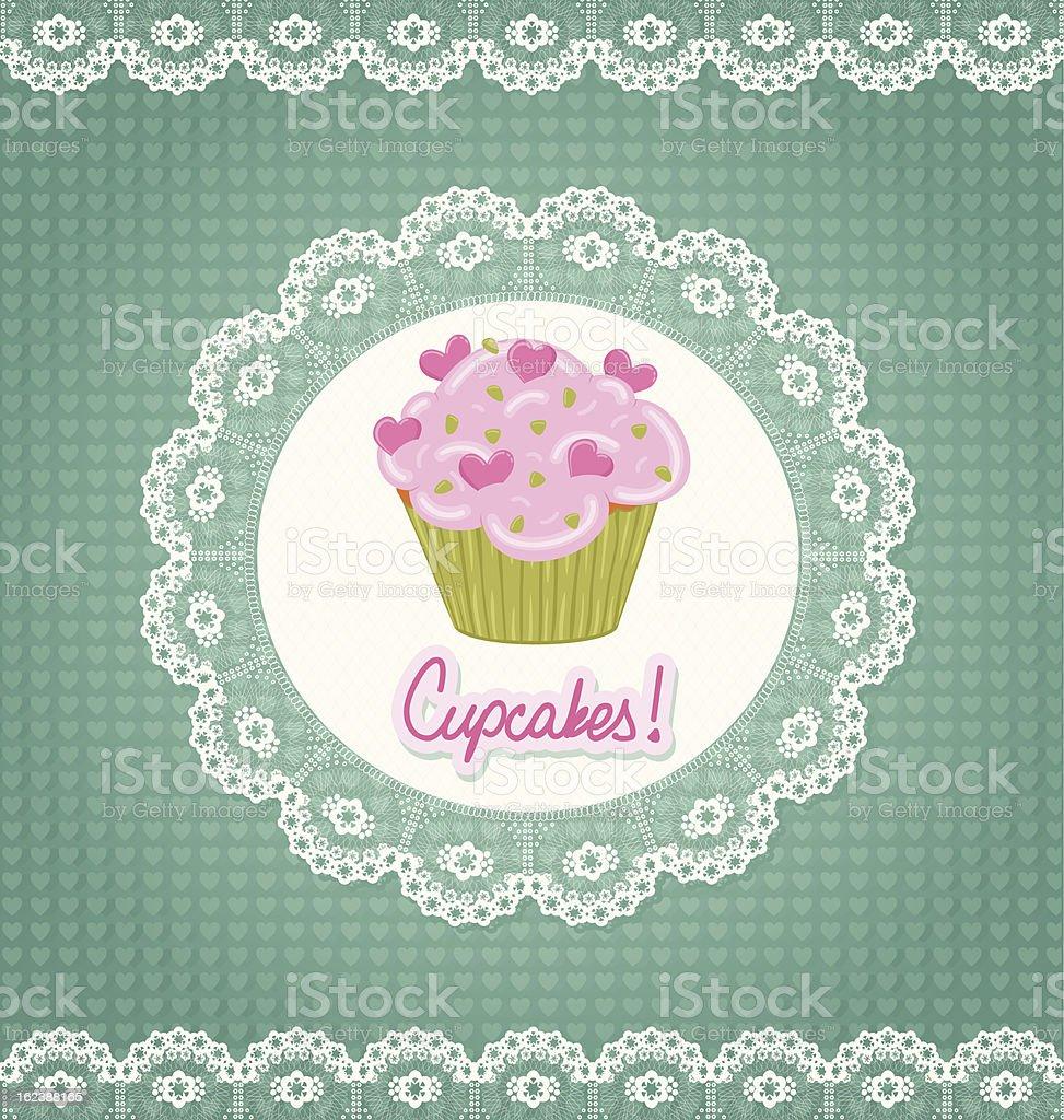 Cupcake Card royalty-free stock vector art