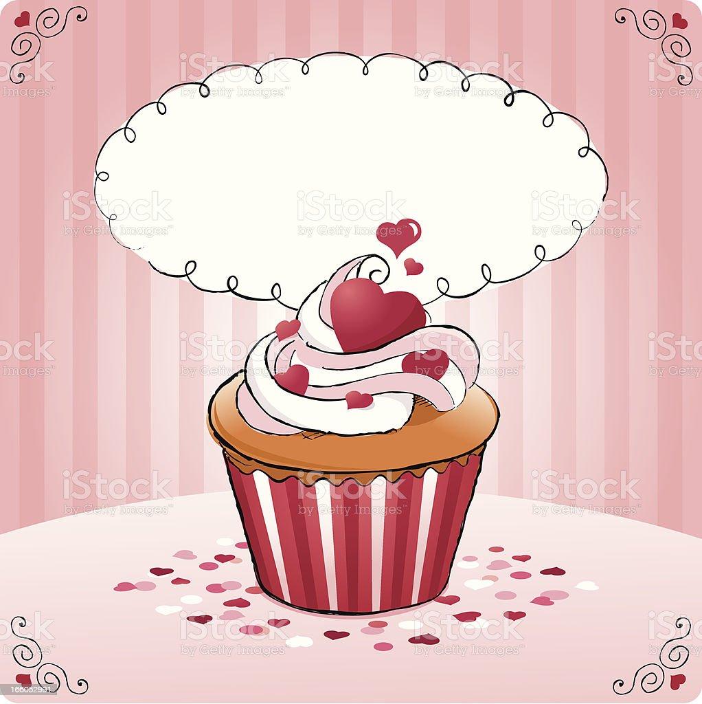 cupcake hearts royalty-free stock vector art