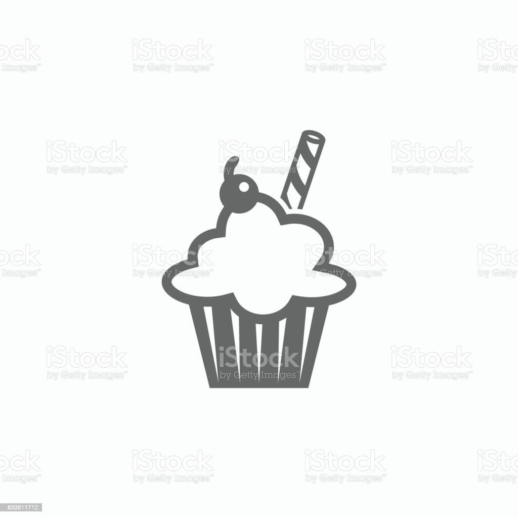 cupcake icon vector art illustration