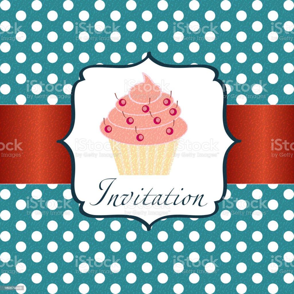 cupcake invitation background royalty-free stock vector art