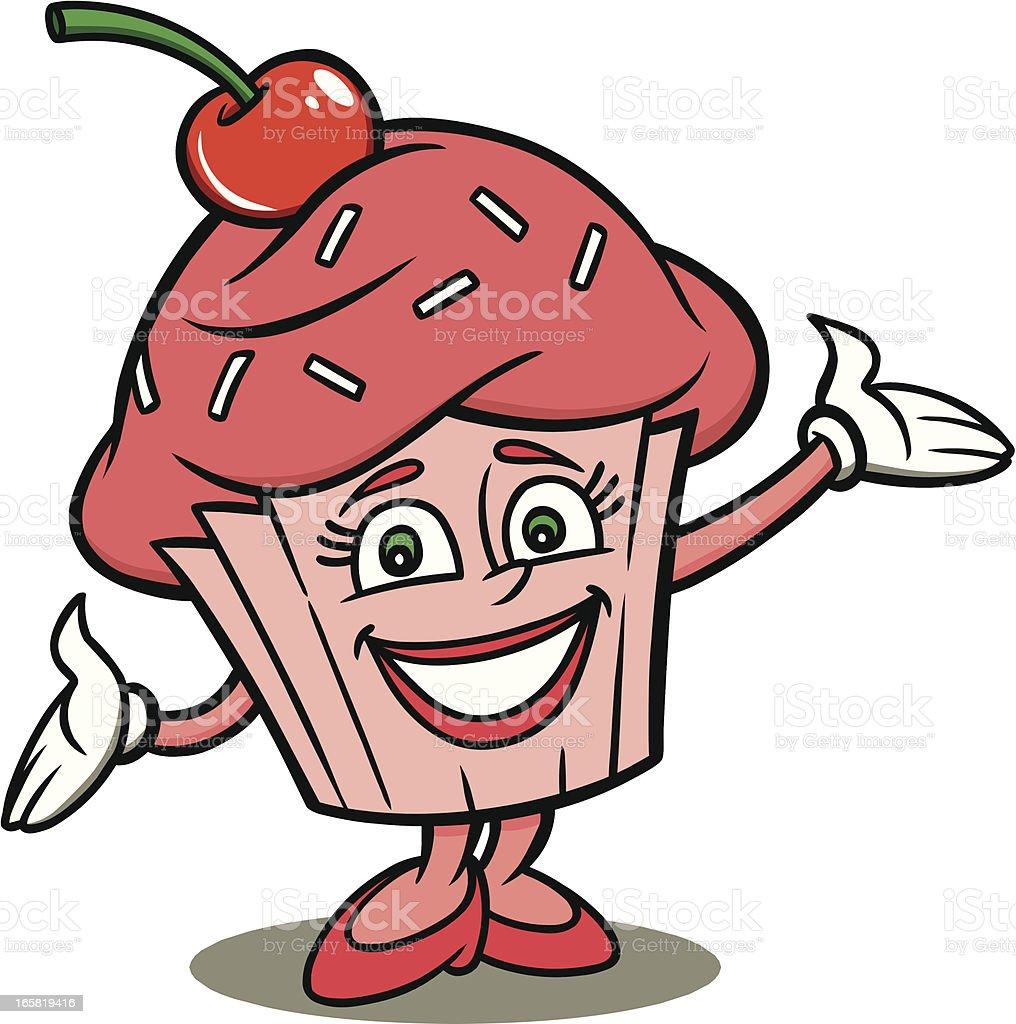 Cupcake Mascot royalty-free stock vector art
