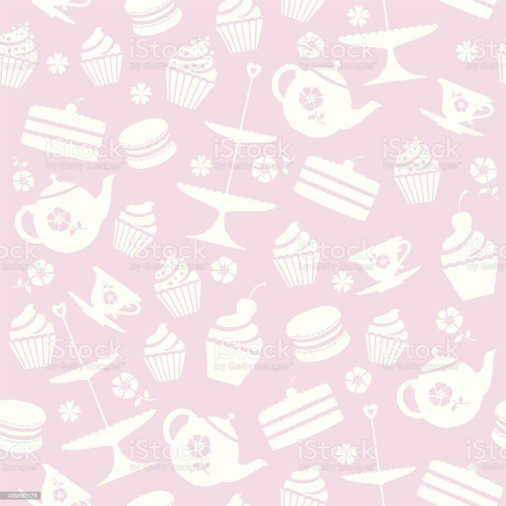 Cupcake Seamless Pattern vector art illustration