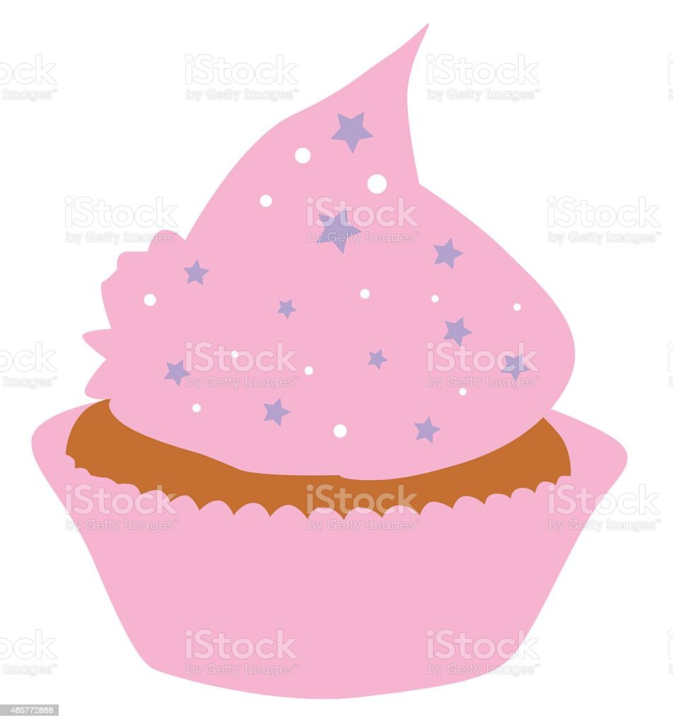 Cupcake vector art illustration