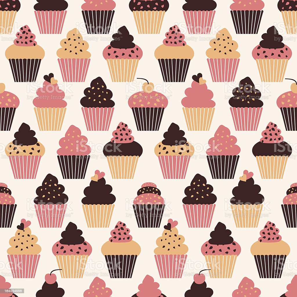 Cupcakes Background royalty-free stock vector art