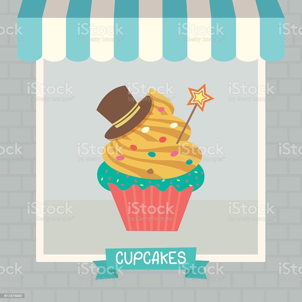 cupcakes cyan cafe 일러스트 612375092   istock