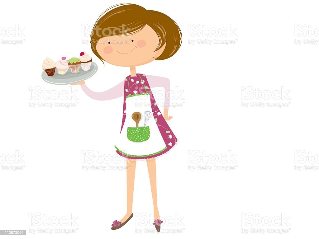 Cupcakes time! vector art illustration