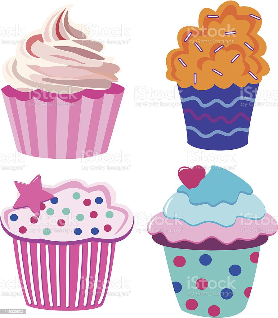 cupcakes royalty-free stock vector art
