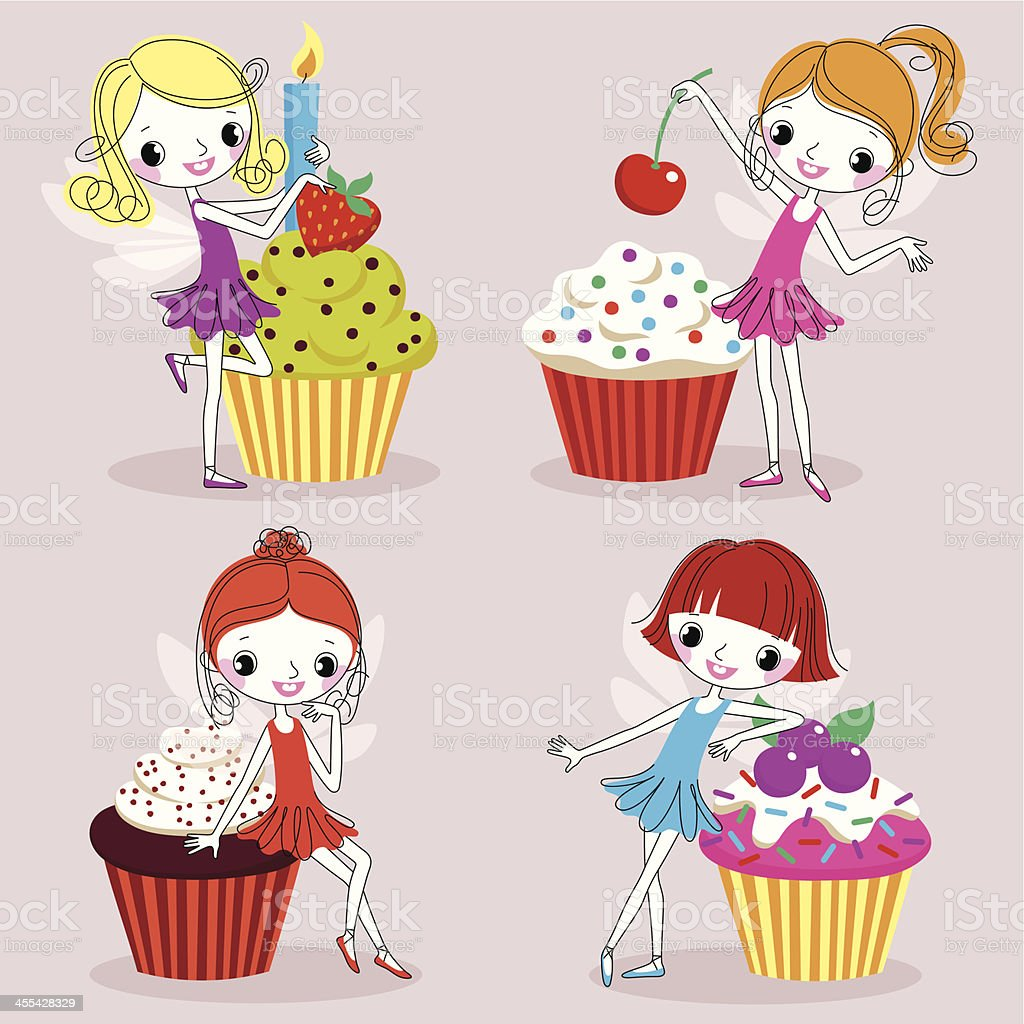 Cupcakes. vector art illustration