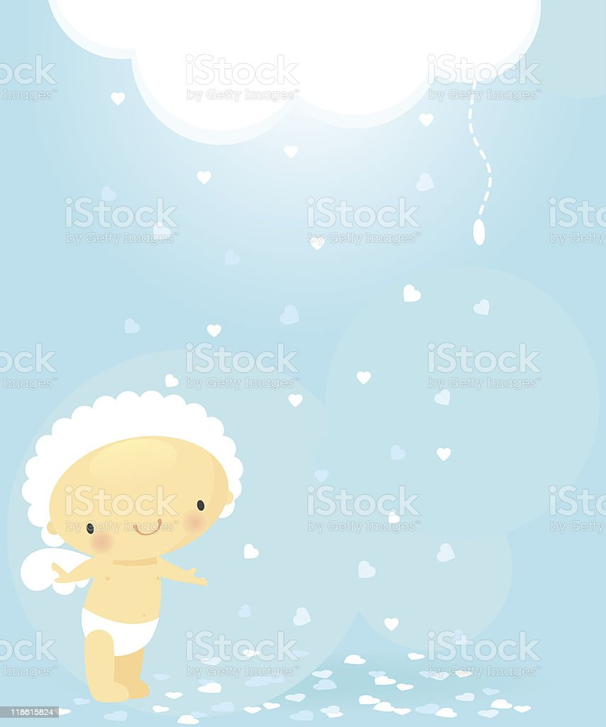 Cupid and magic cloud royalty-free stock vector art