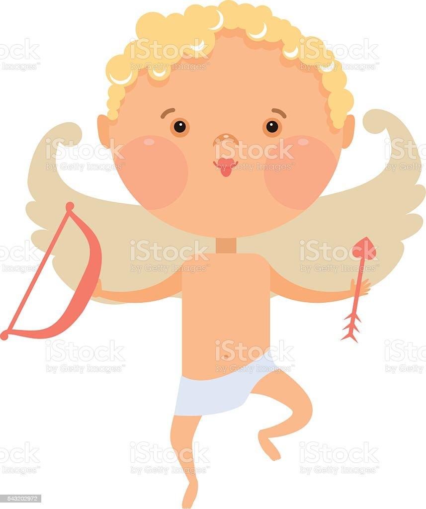 Cupid angel vector art illustration
