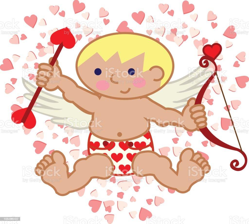 Cupid Baby vector art illustration