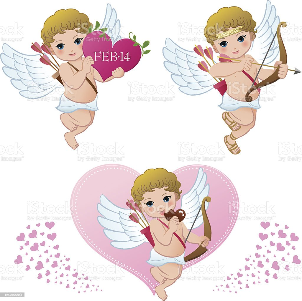 Cupid collection vector art illustration