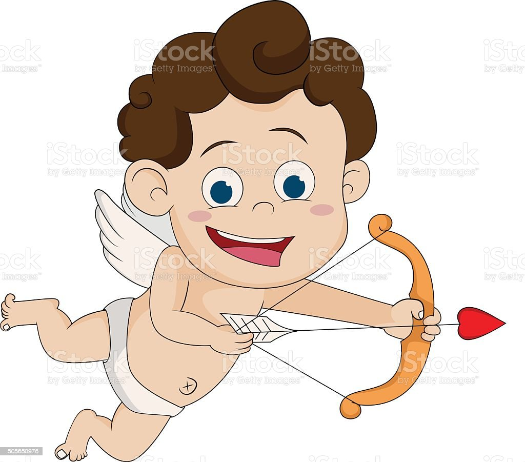 Cupidon volant stock vecteur libres de droits libre de droits