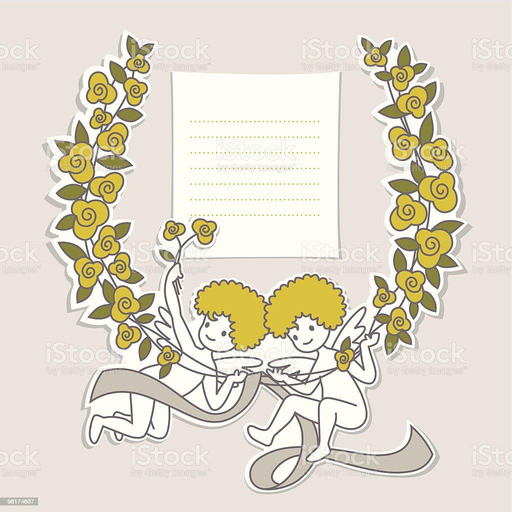 Cupid Frame vector art illustration