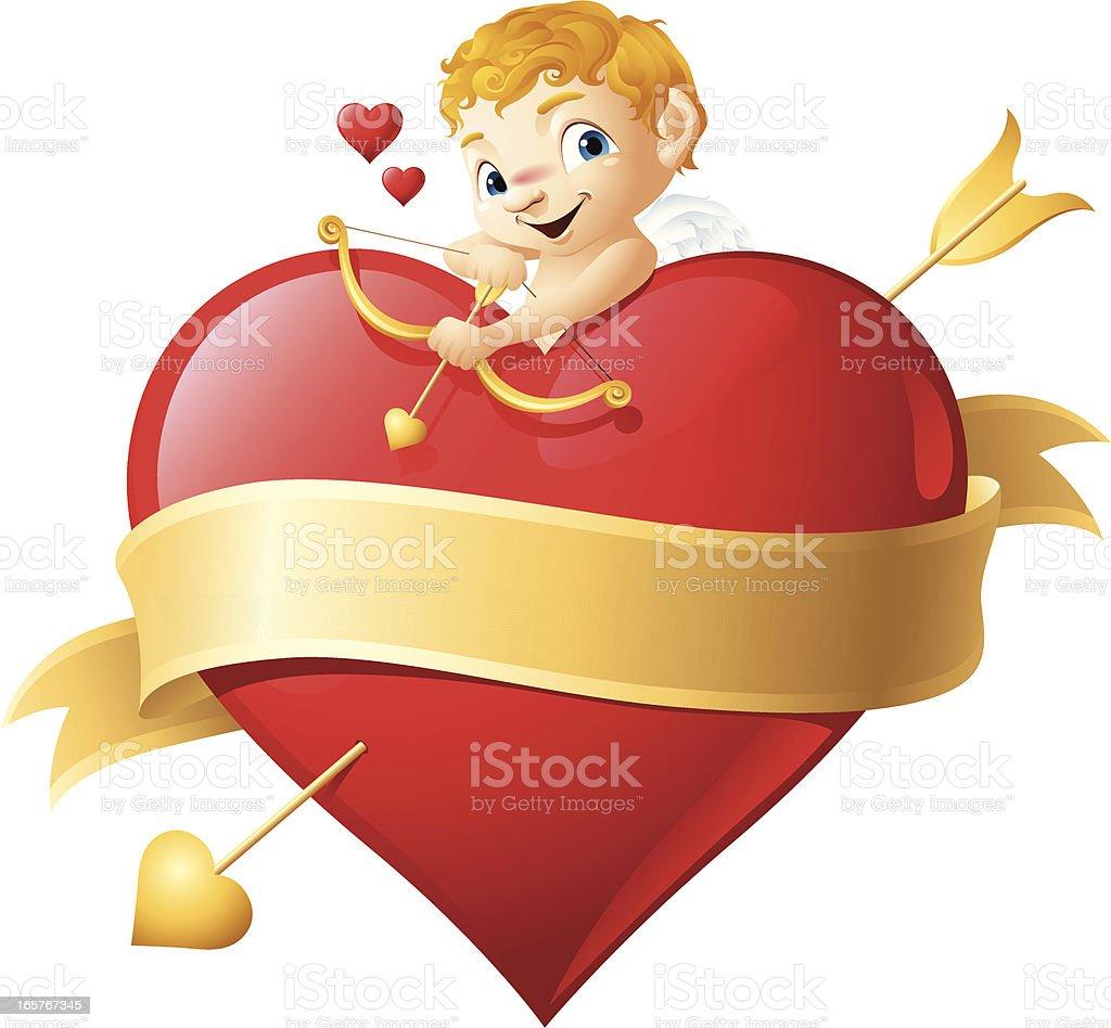 Cupid - Happy Valentine's Day royalty-free stock vector art