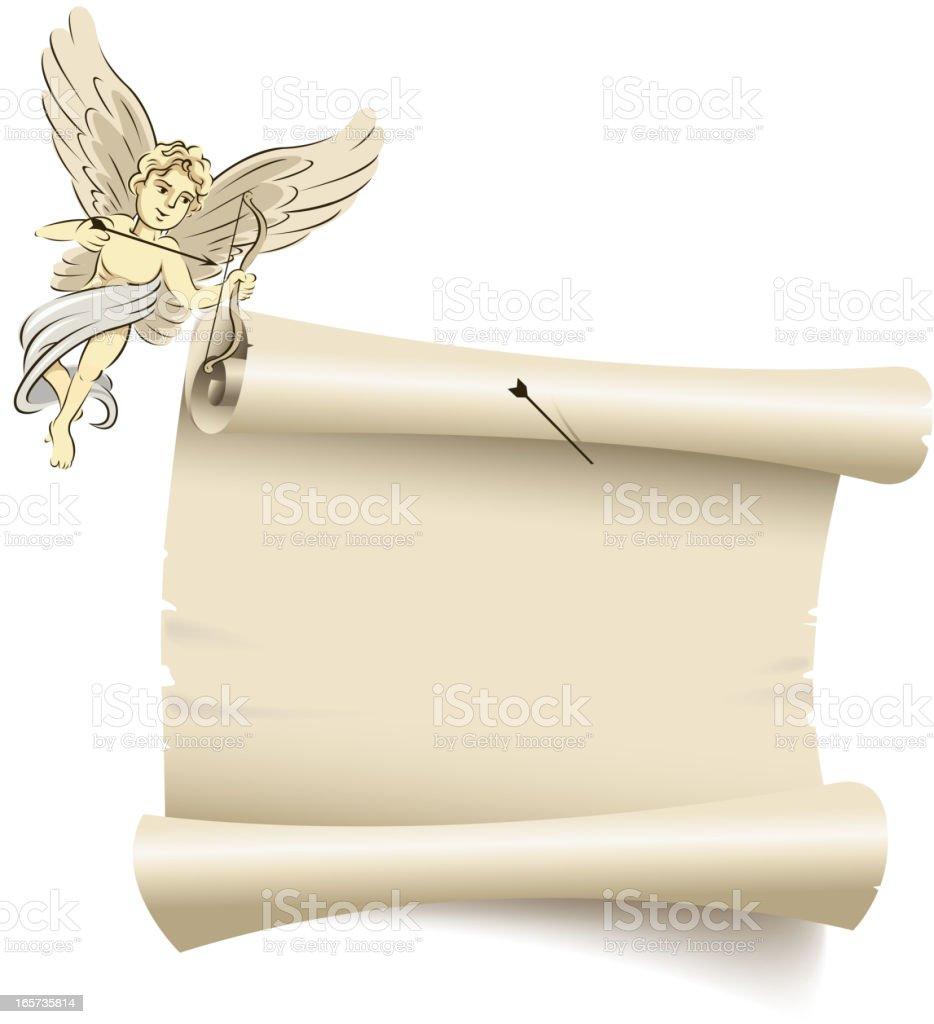 cupid message vector art illustration