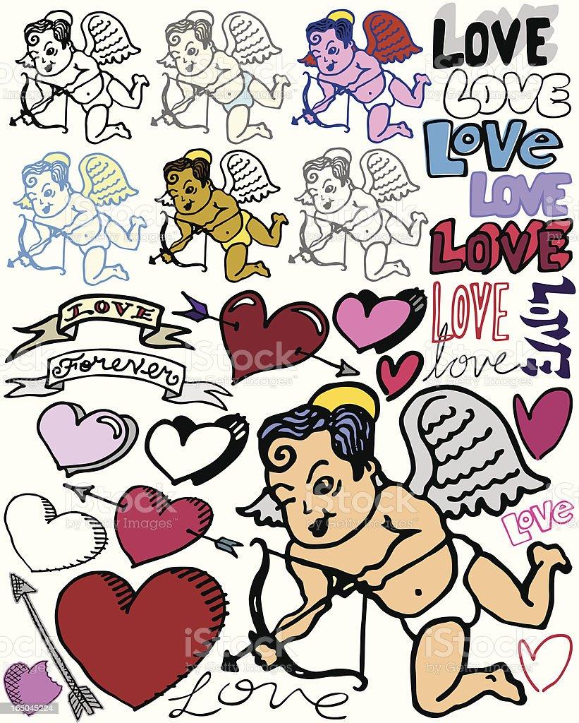 Cupid Strikes Again! royalty-free stock vector art