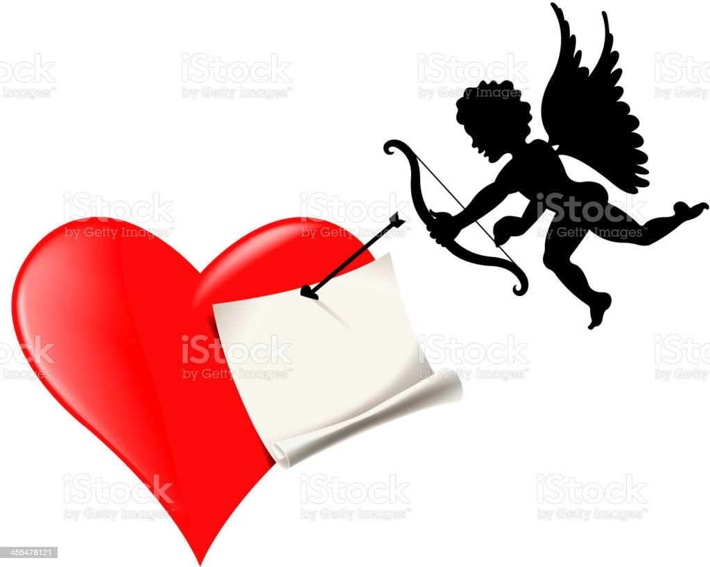cupid valentine's day message royalty-free stock vector art