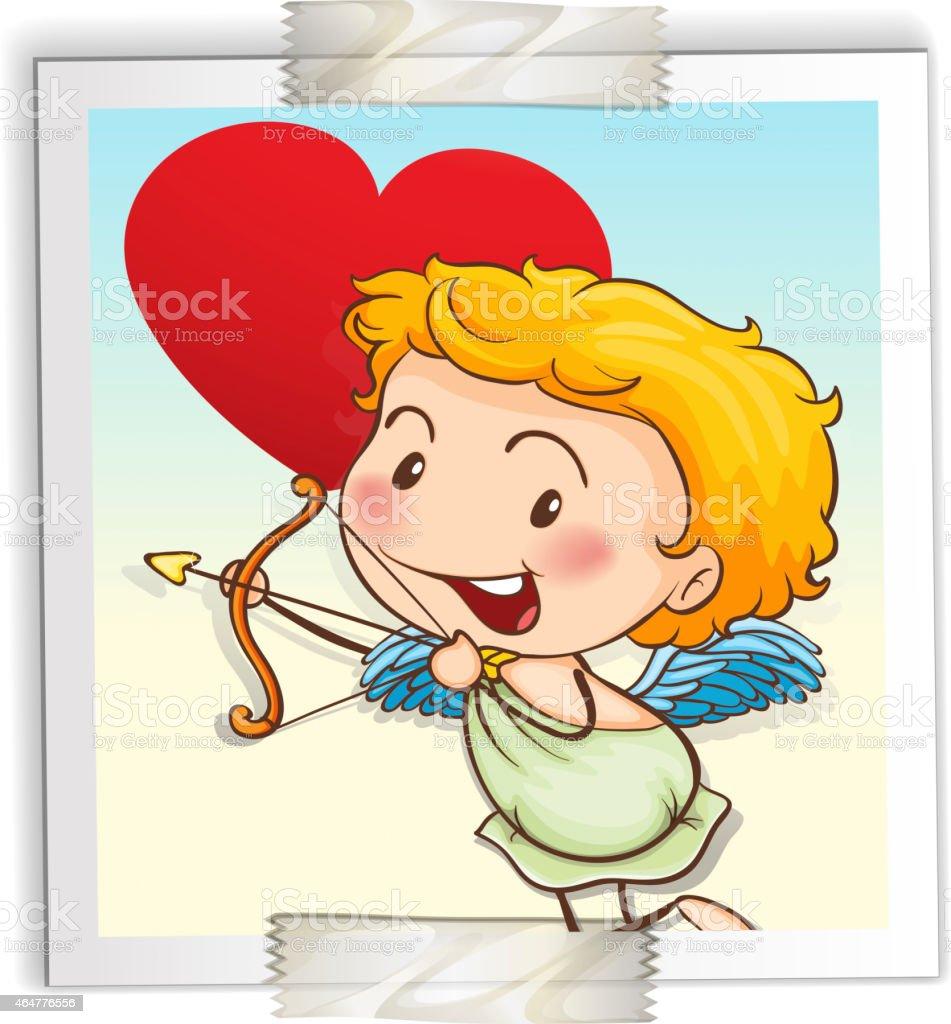 Cupid vector art illustration