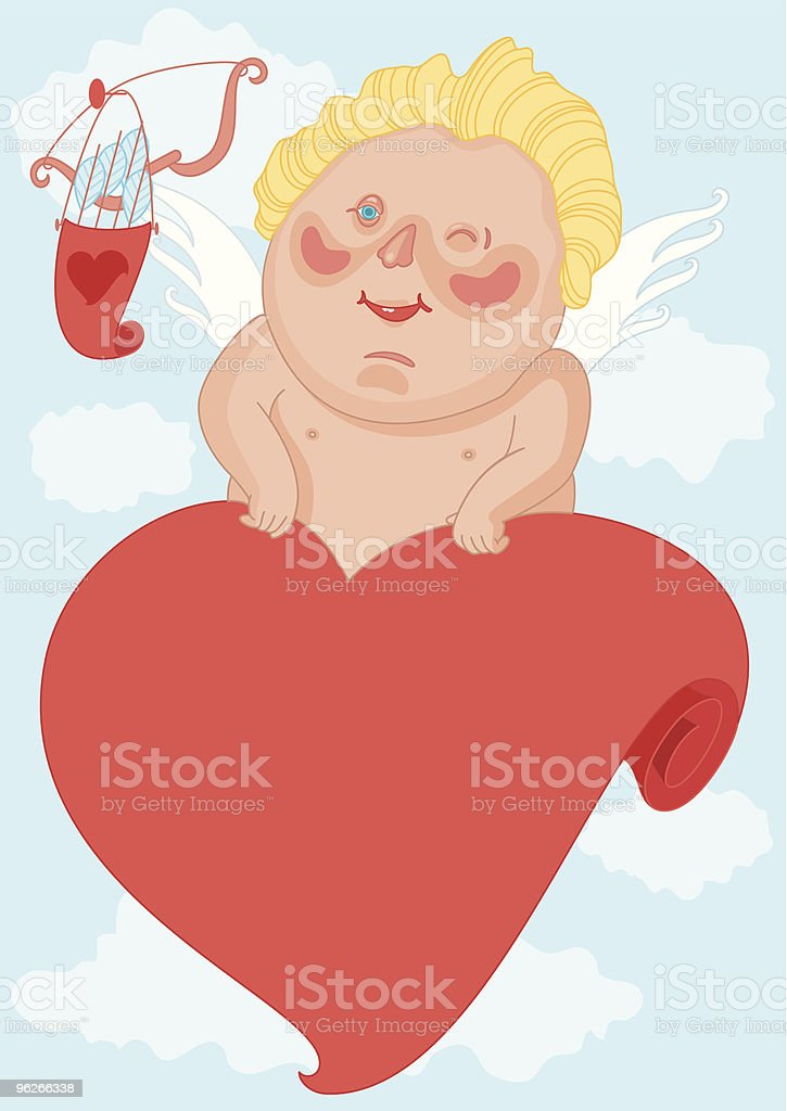 Cupid who winks royalty-free stock vector art