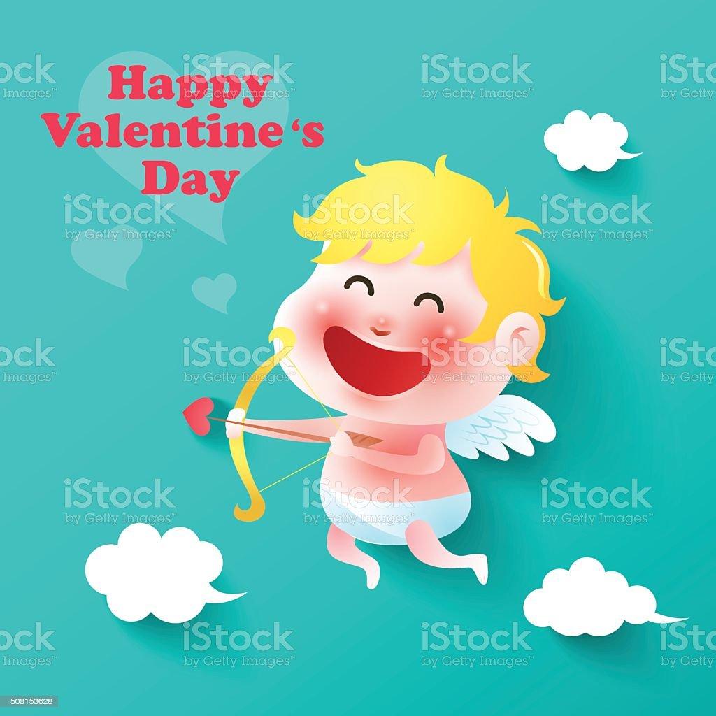 cupid,valentines vector art illustration