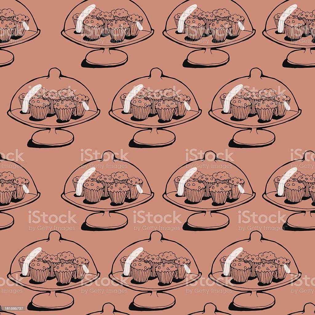 Cupkake pattern royalty-free stock vector art