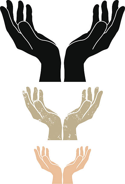 Hands Cupped Clip Art, Vector Images & Illustrations - iStock