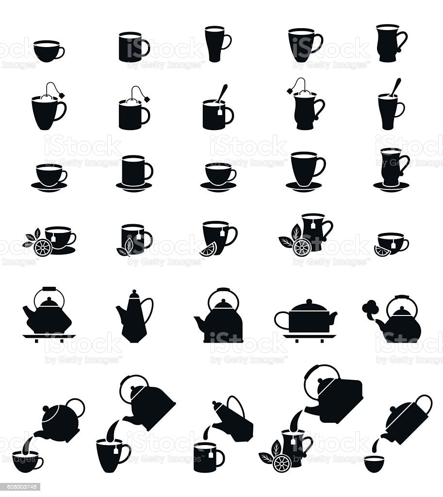 Cups for coffee and tea. vector art illustration