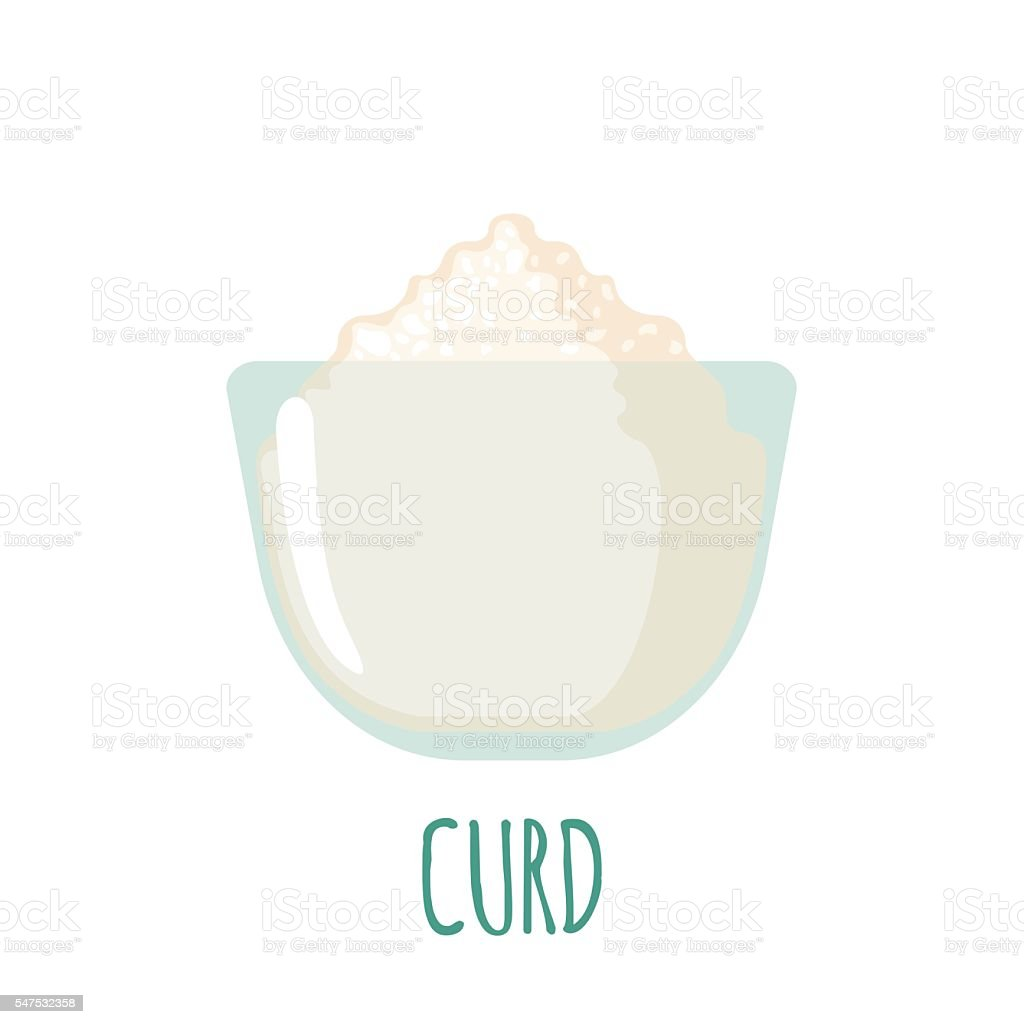 Curd icon on white background vector art illustration