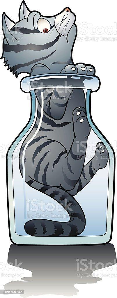 Curiosity killed the cat royalty-free stock vector art