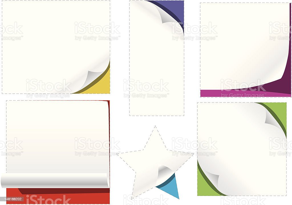 curl Paper cut out royalty-free stock vector art