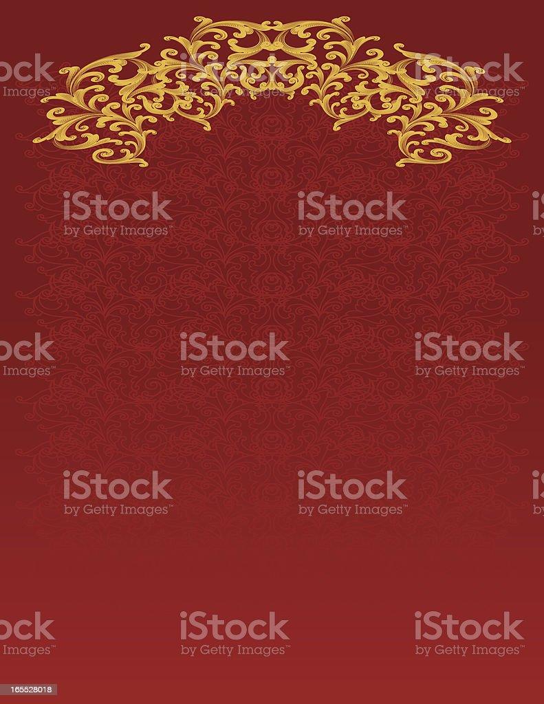 Curl Scroll Background vector art illustration