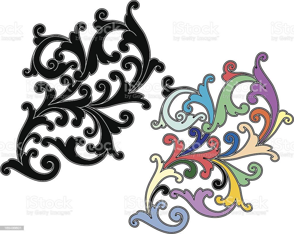 Curl Scrolls royalty-free stock vector art