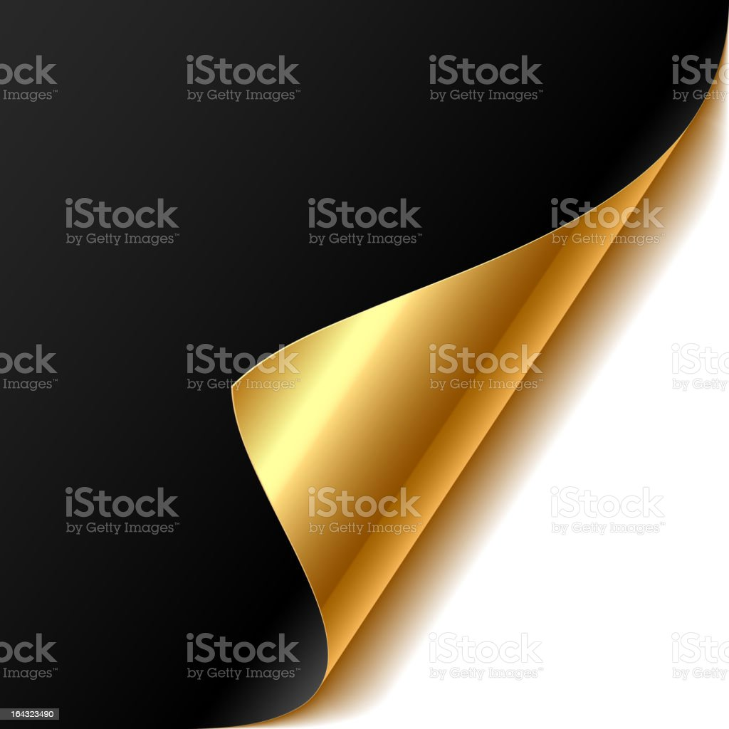 Curled corner vector art illustration