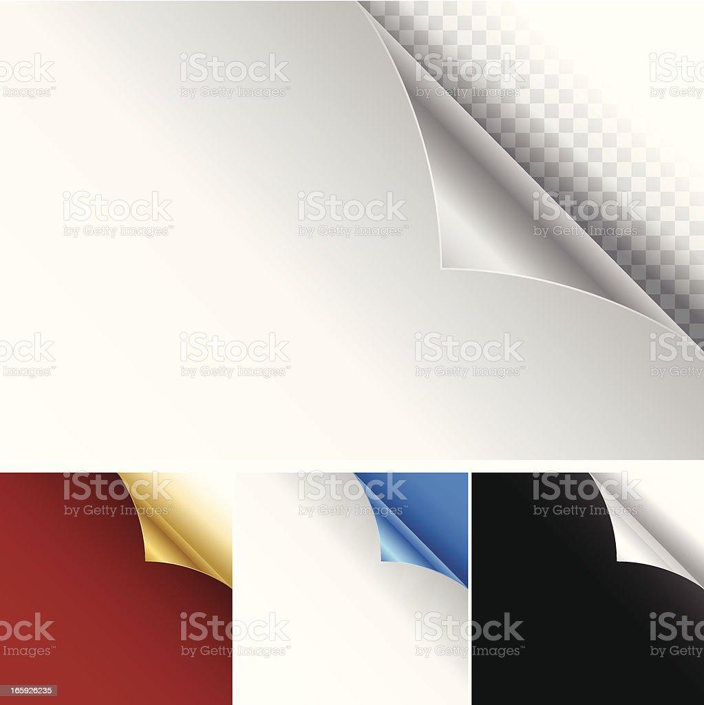 Curled Page Corner vector art illustration