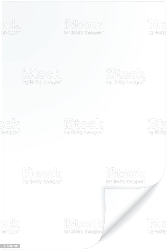 Curled paper vector art illustration