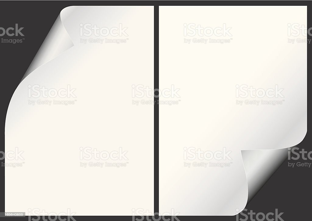 Curled Paper royalty-free stock vector art