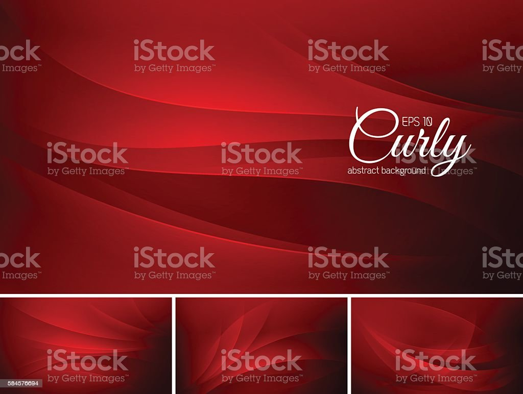 Curly abstract background vector art illustration