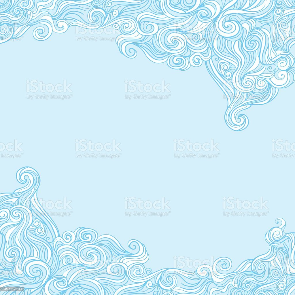 Curly and wavy background. vector art illustration